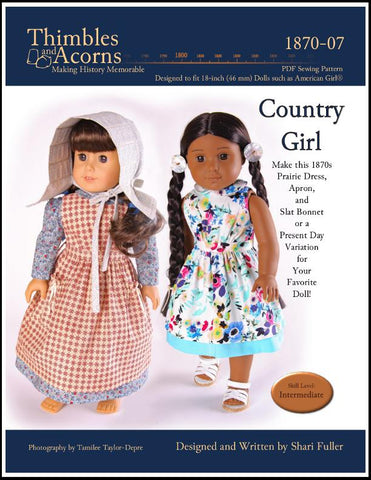 "Thimbles and Acorns 18 Inch Historical Country Girl 18"" Doll Clothes Pixie Faire"