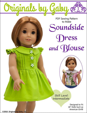 18 Inch Doll Clothes Patterns Tops - Woven Fabrics | Pixie Faire