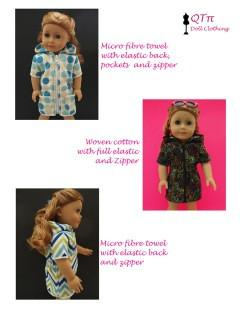 "Summer Fun Cover Up 18"" Doll Clothes Pattern"