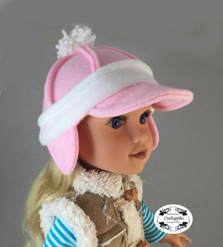 "Cozy Hats 18"" Doll Clothes Pattern"