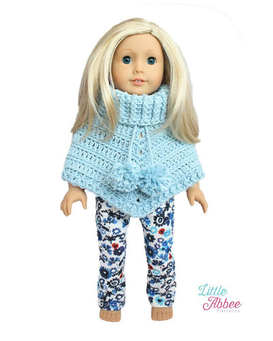 Little Abbee Crochet Chunky Poncho Crochet Pattern Pixie Faire