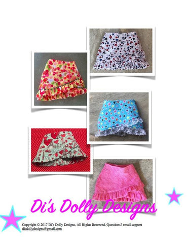 "Criss Cross Skirt 18"" Doll Clothes"