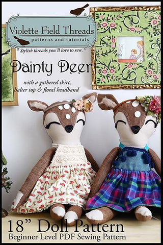 "Dainty Deer 18"" Animal Doll"
