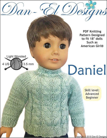 "Daniel 18"" Doll Knitting Pattern"
