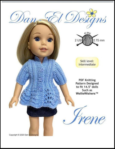 "Irene 14.5"" Doll Knitting Pattern"