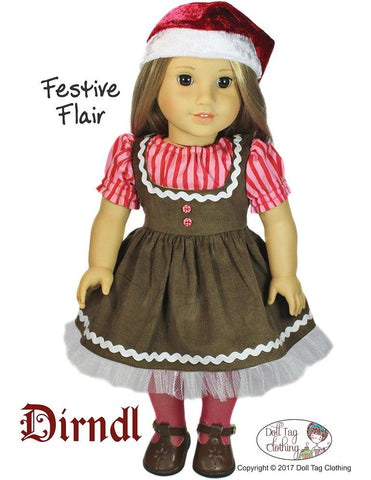 "Dirndl 18"" Doll Clothes Pattern"