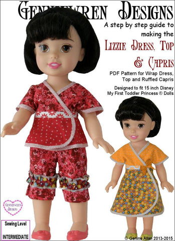 Lizzie - Dress, Top and Capri Pants for Disney My First Todder Princess Dolls