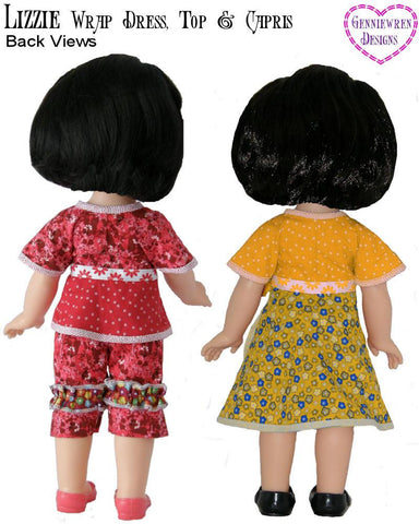 Lizzie - Dress, Top and Capri Pants Pattern for Disney My First Toddler Princess Dolls