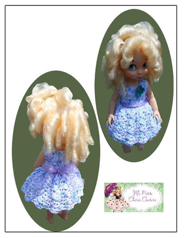 Tumbling Scallops Crochet Pattern for Disney Animator Dolls