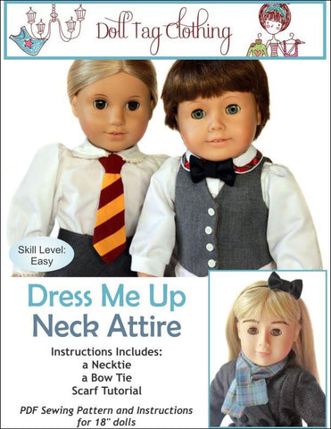 "Dress Me Up Neck Attire 18"" Doll Accessories"