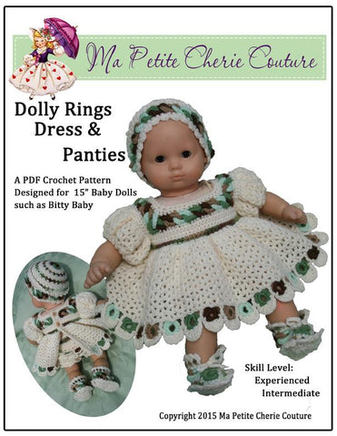 Dolly Rings Dress and Panties Crochet Pattern