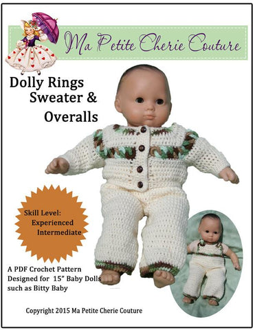 Dolly Rings Sweater and Overalls Crochet Pattern