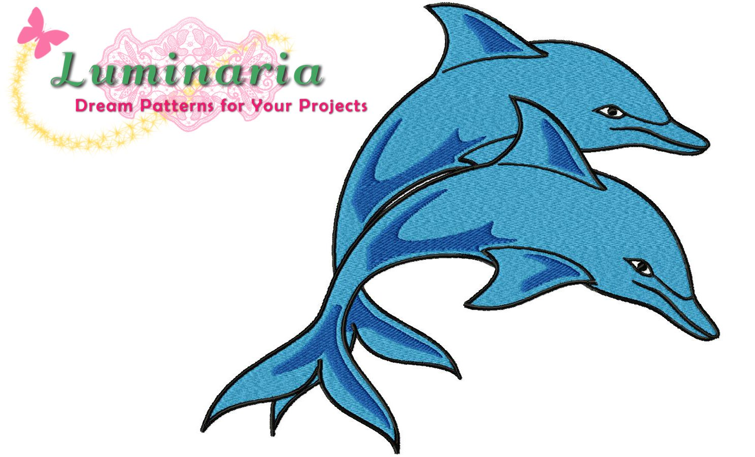 Luminaria Dolphins! Machine Embroidery Design For Doll Clothes ...