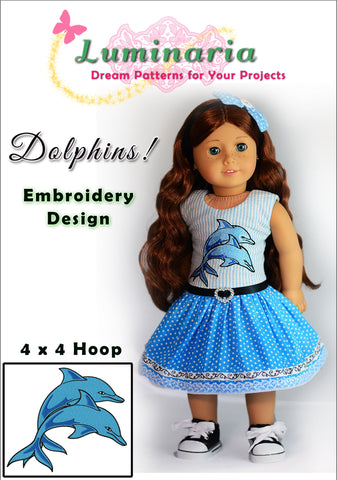 Dolphins! Machine Embroidery Design