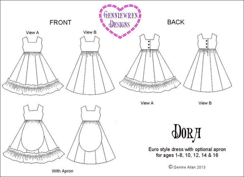 Dora Dress For Girls 1-16