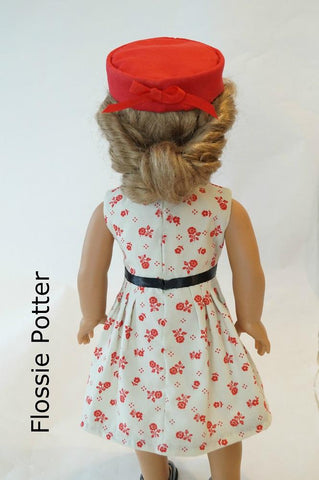 "Ladies' Club Dress 18"" Doll Clothes Pattern"