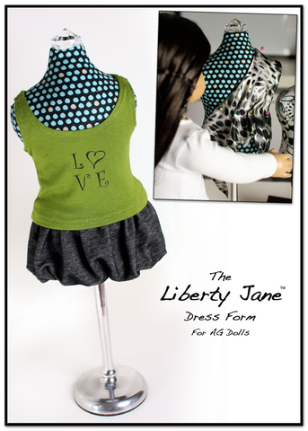 "Dress Form 18"" Doll Clothes Pattern"