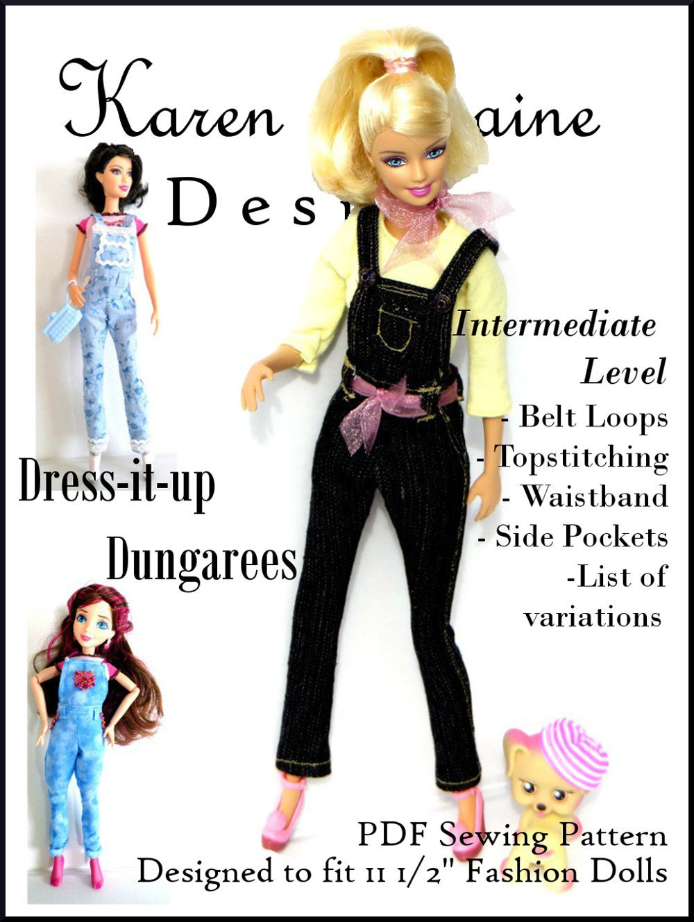Dress It Up Dungarees Pattern For 11 1 2 Fashion Dolls