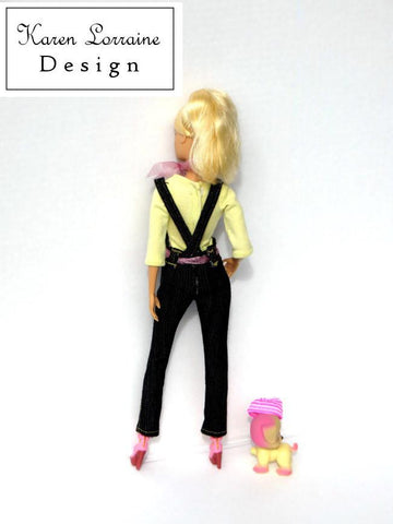 "Dress It Up Dungarees Pattern for 11-1/2"" Fashion Dolls"