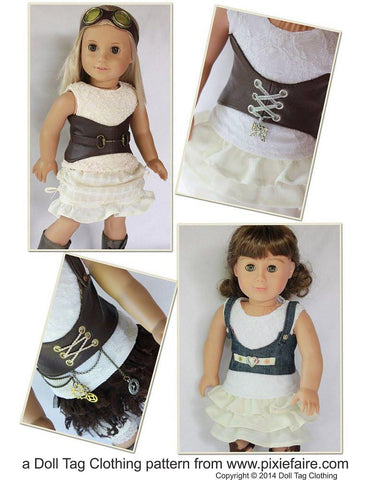 "Dress Me Up Corset 18"" Doll Clothes Pattern"