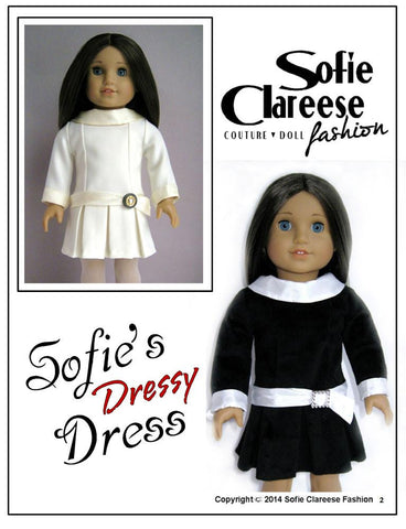 "Sofie's Dressy Dress 18"" Doll Clothes"