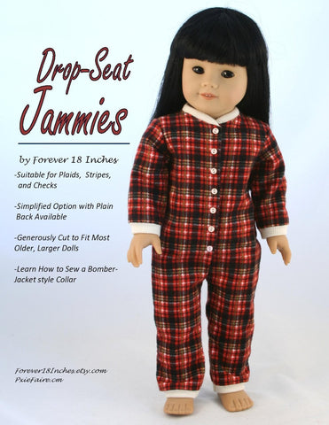 "Drop-Seat Jammies 18"" Doll Clothes"