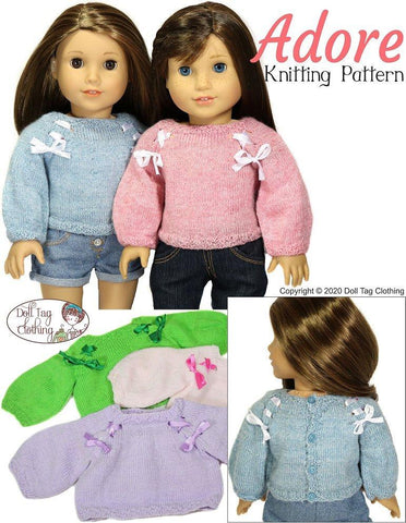 "Adore Knit Sweater 18"" Doll Clothes"