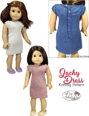 "Jacky Dress 18"" Doll Clothes Knitting Pattern"