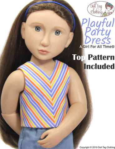 Playful Party Dress Pattern for A Girl For All Time Dolls