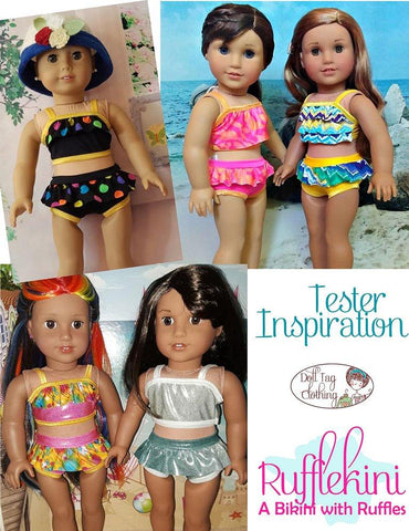 "Rufflekini Swimsuit 18"" Doll Clothes"