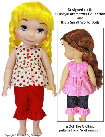 Strawberry Patch Pattern for Disney Animator Dolls