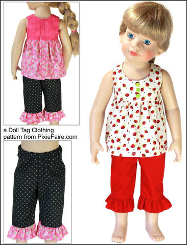 "Strawberry Patch Pattern for 18"" Slim Dolls"