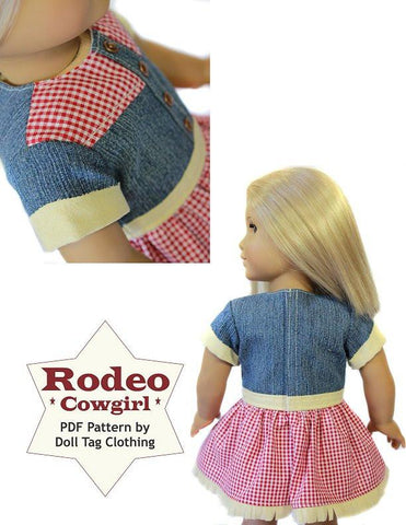 "Rodeo Cowgirl 18"" Doll Clothes Pattern"