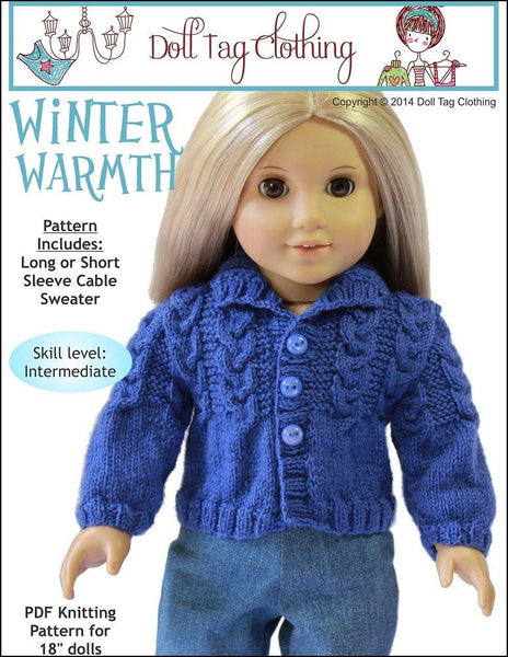 Free Knitting Patterns For Our Generation Dolls : Winter Warmth Knitting Pattern Pattern PDF Download ...