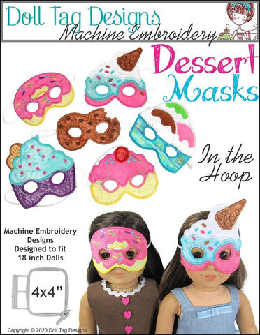Doll Tag Clothing Machine Embroidery Design Dessert Masks Machine Embroidery Designs Pixie Faire