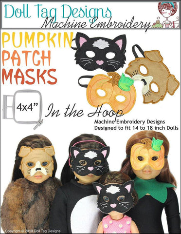 Pumpkin Patch Masks Machine Embroidery Designs