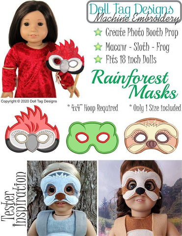 Rainforest Masks Machine Embroidery Designs