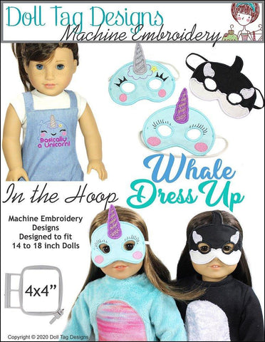 Whale Dress Up Machine Embroidery Designs