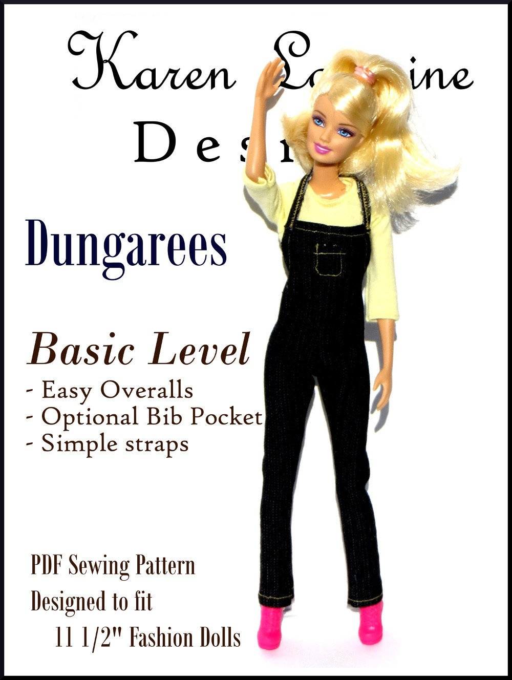 Dungarees Pattern For 11 1 2 Fashion Dolls
