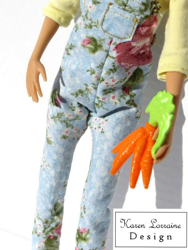 Dungarees Doll Clothes Pattern 11 12 Inch Fashion Dolls Such As