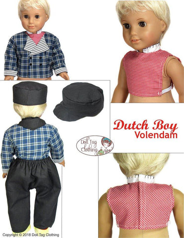 "Dutch Boy: Volendam 18"" Doll Clothes Pattern"