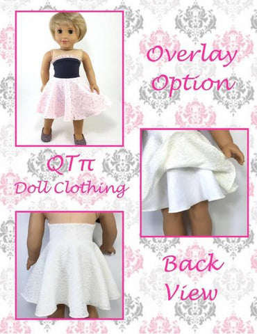 "Easy As π Bandeau Dress 18"" Doll Clothes"