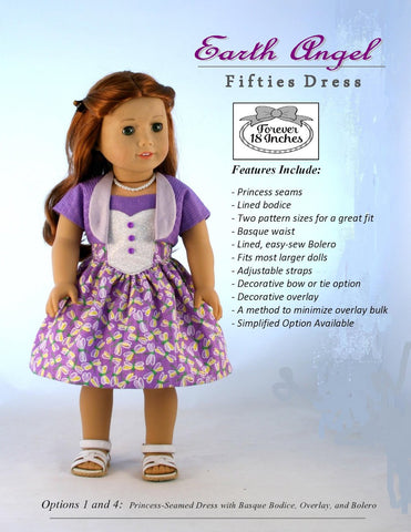 "Earth Angel Fifties Dress 18"" Doll Clothes"