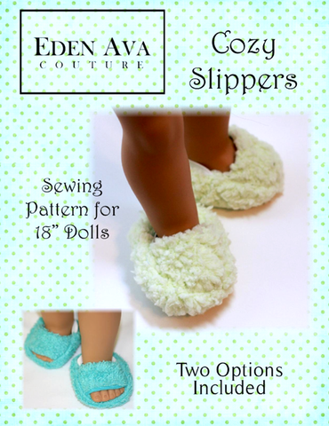 "Cozy Slippers 18"" Doll Shoes"