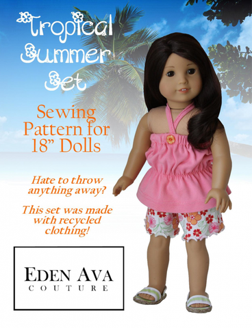 "Tropical Summer Set 18"" Doll Clothes"
