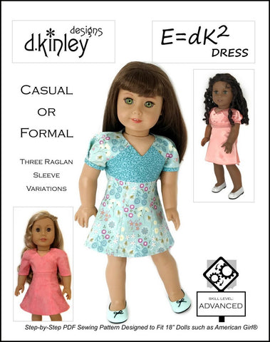 "E=dK2 Dress 18"" Doll Clothes Pattern"
