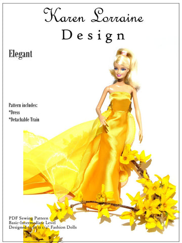 "Elegant Pattern for 11-1/2"" Fashion Dolls"