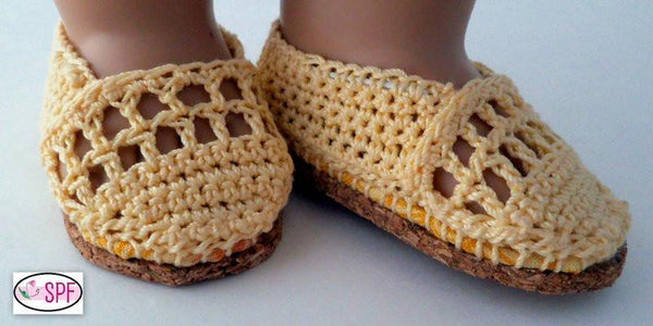 Elena Crocheted 18 Inch Doll Shoes Pattern Pdf Download