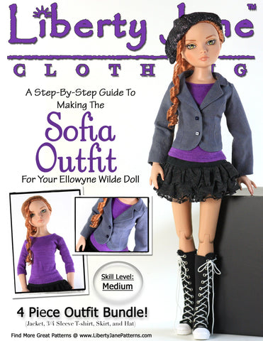 Sofia Outfit Pattern for Ellowyne Dolls