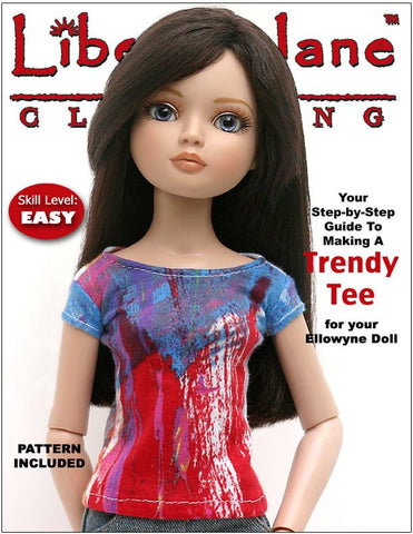 Liberty Jane Ellowyne FREE T-Shirt Pattern for Ellowyne Dolls Pixie Faire